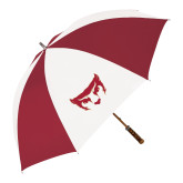 62 Inch Cardinal/White Umbrella-Mascot