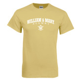 Champion Vegas Gold T Shirt-Arched Collegiate William & Mary Alumni