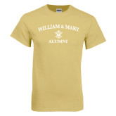 Champion Vegas Gold T Shirt-Arched Academic William & Mary Alumni