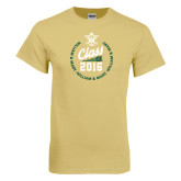 Champion Vegas Gold T Shirt-Class Of Circle Text