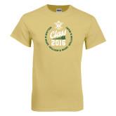 Champion Vegas Gold T Shirt-Class Of Circle Text