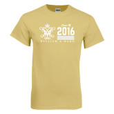 Champion Vegas Gold T Shirt-William & Mary Class Of Stacked