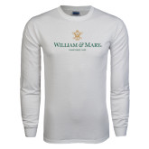 White Long Sleeve T Shirt-Chartered Logo