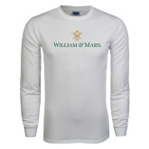 White Long Sleeve T Shirt-William and Mary