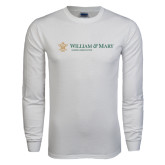 White Long Sleeve T Shirt-Alumni Association Flat