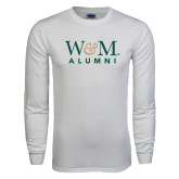 White Long Sleeve T Shirt-W&M Alumni