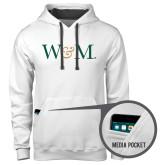 Contemporary Sofspun White Hoodie-W&M