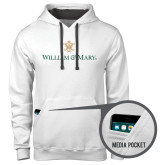 Contemporary Sofspun White Hoodie-William and Mary