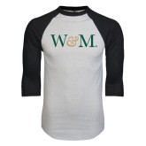 White/Black Raglan Baseball T-Shirt-W&M