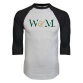 White/Black Raglan Baseball T-Shirt-W&M