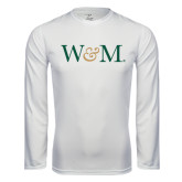 Performance White Longsleeve Shirt-W&M