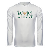 Performance White Longsleeve Shirt-W&M Alumni
