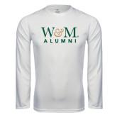 Syntrel Performance White Longsleeve Shirt-W&M Alumni