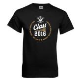 Black T Shirt-Class Of Circle Text