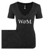 Next Level Ladies Vintage Black Tri Blend V-Neck Tee-W&M