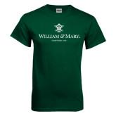 Dark Green T Shirt-Chartered Logo