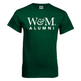 Dark Green T Shirt-W&M Alumni