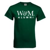 Dark Green T Shirt-W&M Alumni