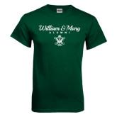 Dark Green T Shirt-William & Mary Script Alumni