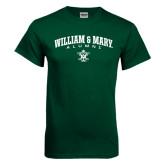 Dark Green T Shirt-Arched Collegiate William & Mary Alumni