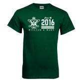 Dark Green T Shirt-William & Mary Class Of Stacked