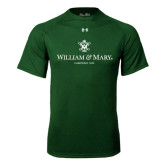 Under Armour Dark Green Tech Tee-Chartered Logo