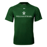 Under Armour Dark Green Tech Tee-William and Mary