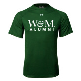 Under Armour Dark Green Tech Tee-W&M Alumni