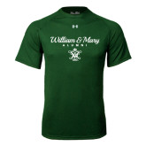 Under Armour Dark Green Tech Tee-William & Mary Script Alumni