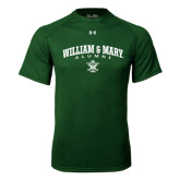 Under Armour Dark Green Tech Tee-Arched Collegiate William & Mary Alumni