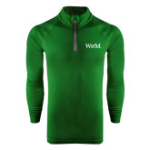 Under Armour Dark Green Tech 1/4 Zip Performance Shirt-W&M