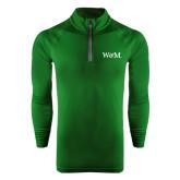 Under Armour Dark Green Tech 1/4 Zip Performance Shirt-W&M
