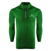 Under Armour Dark Green Tech 1/4 Zip Performance Shirt-William and Mary