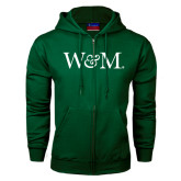 Dark Green Fleece Full Zip Hoodie-W&M