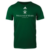 Adidas Dark Green Logo T Shirt-Chartered Logo