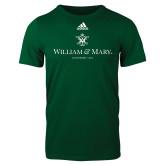 Adidas Dark Green Logo T Shirt-Chartered Logo