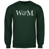 Dark Green Fleece Crew-W&M