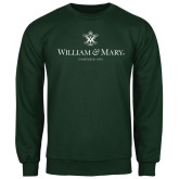 Dark Green Fleece Crew-Chartered Logo