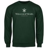 Dark Green Fleece Crew-Chartered Logo