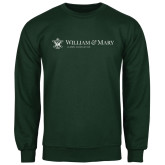 Dark Green Fleece Crew-Alumni Association Flat