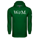 Under Armour Dark Green Performance Sweats Team Hoodie-W&M
