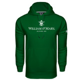 Under Armour Dark Green Performance Sweats Team Hoodie-Chartered Logo