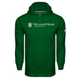 Under Armour Dark Green Performance Sweats Team Hoodie-Alumni Association Flat