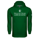 Under Armour Dark Green Performance Sweats Team Hoodie-Alumni Association Stacked