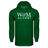 Under Armour Dark Green Performance Sweats Team Hoodie-W&M Alumni