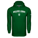 Under Armour Dark Green Performance Sweats Team Hoodie-Arched Collegiate William & Mary Alumni
