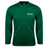 Performance Dark Green Longsleeve Shirt-W&M