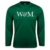 Syntrel Performance Dark Green Longsleeve Shirt-W&M