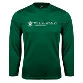 Syntrel Performance Dark Green Longsleeve Shirt-Alumni Association Flat