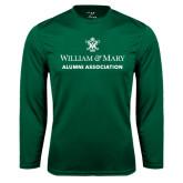 Syntrel Performance Dark Green Longsleeve Shirt-Alumni Association Stacked